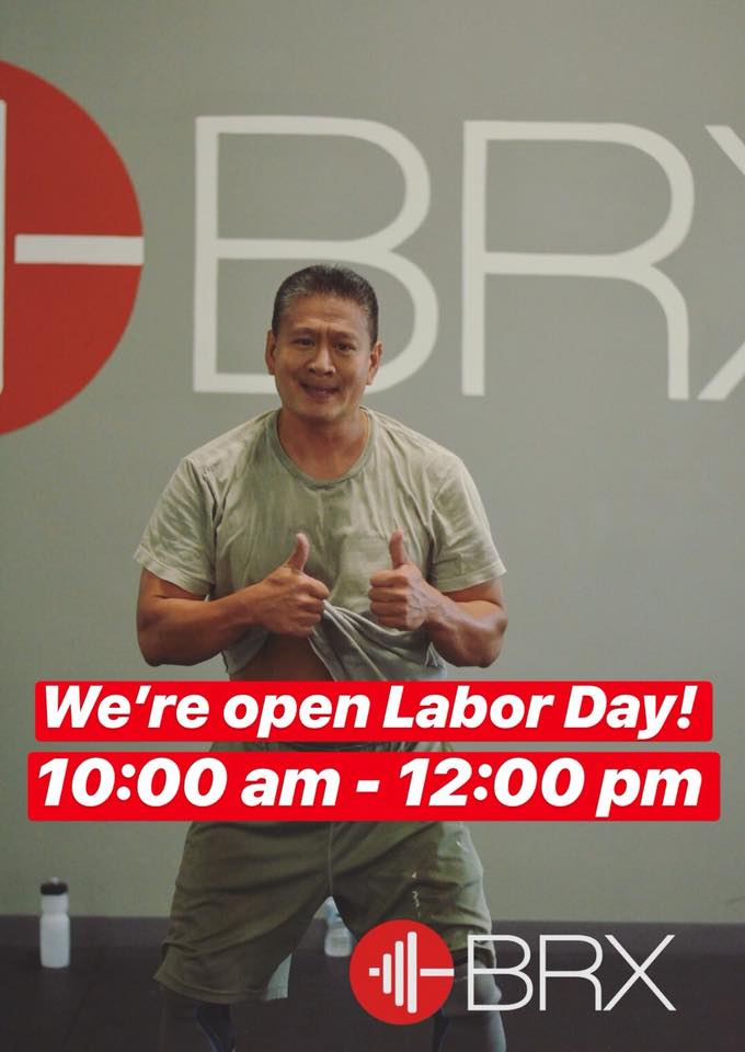 We're Open Labor Day!