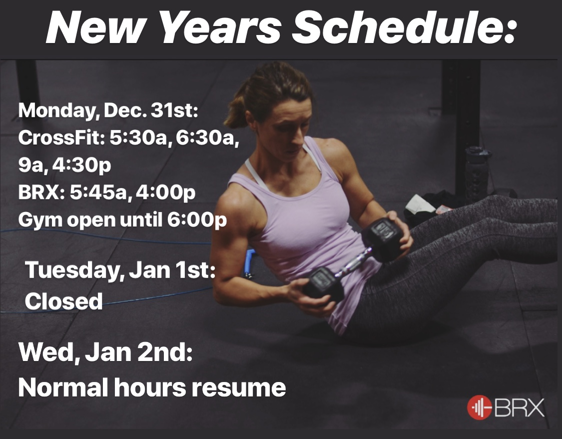 New Years Schedule